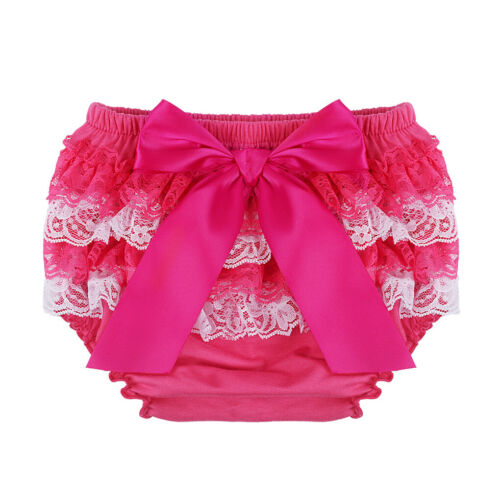 Newborn Baby Girl Lace Ruffle Bloomers Shorts Diaper Cover Pants Photo Costume