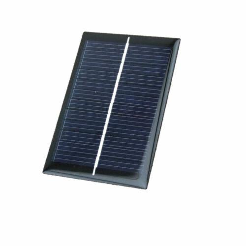 Solarzelle Solarmodul 90mmx60mm 6V 0,6W 0,1A Polykristalin mit Schutzfolie sw