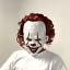 Pennywise-Mask-Clown-It-Halloween-Stephen-King-Costume-Cosplay-Scary-Joker-Prank miniature 1