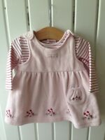 Baby Girl's Clothes 0-3 Months - 2pc Jasper Conran Fleece Pinafore Dress Set