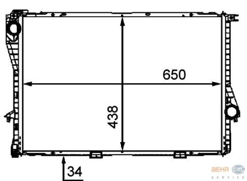 Refroidisseur Bmw 5er e38 735i 740i 750i Commutation.//aut avec climat 09//98-11//01 OE de Behr