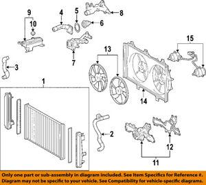 toyota oem 06 08 rav4 radiator cooling fan motor 1636331110 ebay rh ebay com Ford Cooling System Diagrams Small Block Chevy Cooling Diagram