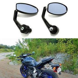 Custom Aluminum 7 8 Bar End Mirrors Black Motorcycle Parts For Yamaha Fz09 Fz07 Ebay