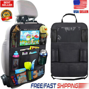 Car Protector Seat Back Cover For Children Babies Kick Mat Protects Storage Bag