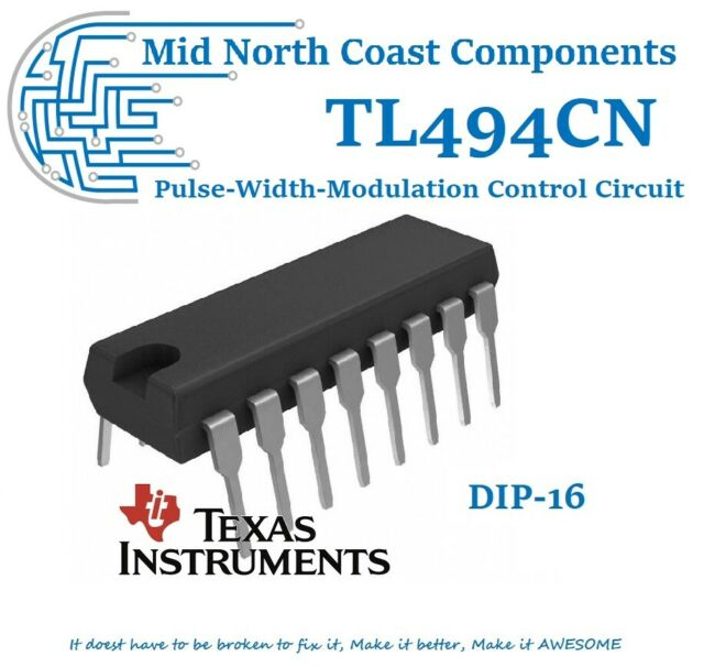 TL494CN Switch Mode Pulse-Width-Modulation Control Circuits DIP-16 Texas Inst