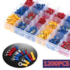 1200pcs Insulated Assorted Electrical Wiring Connectors Crimp Terminals Set Kits
