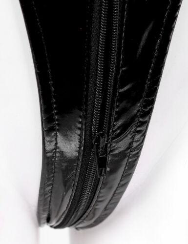 Womens Wet Look Patent Leather Lingerie Lace Splicing Leotard Bodysuit Nightwear
