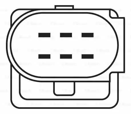 4047024158573 1x Bosch Oxygen Sensor LS7351 0258007351