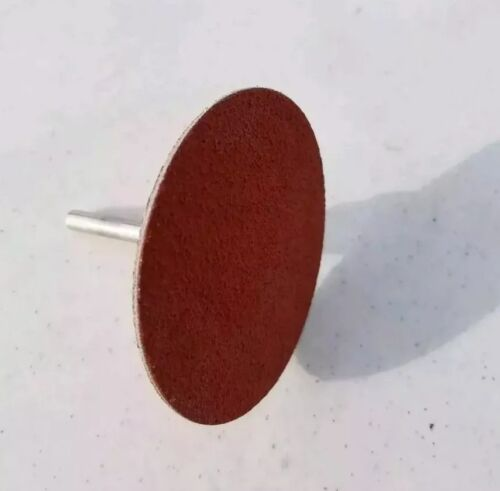 """2 1/"""" TYPE R DISC HOLDER ROLOC MANDRELS w//Double Sided   Ceramic US made Pad."""