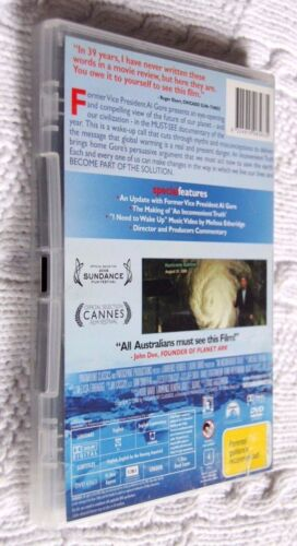 1 of 1 - A Inconvenient Truthn (DVD, 2007) R-4, LIKE NEW, FREE POST WITHIN AUSTRALIA