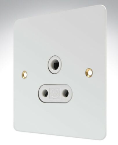 MK Edge K14381 White Insert Metal 5A 1G Unswitched Socket