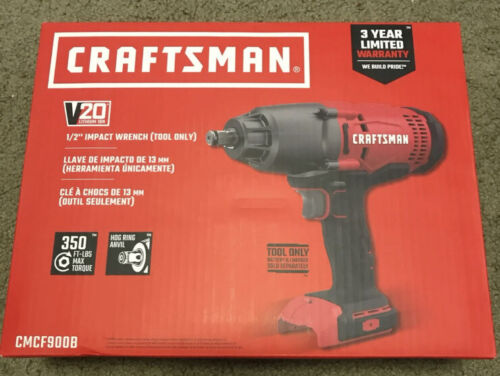 "NEW Craftsman CMCF900B  20V Cordless 1//2/"" Impact Wrench V20 Tool Only"