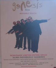 Genesis - Invisible Touch, Rare UK Poster!