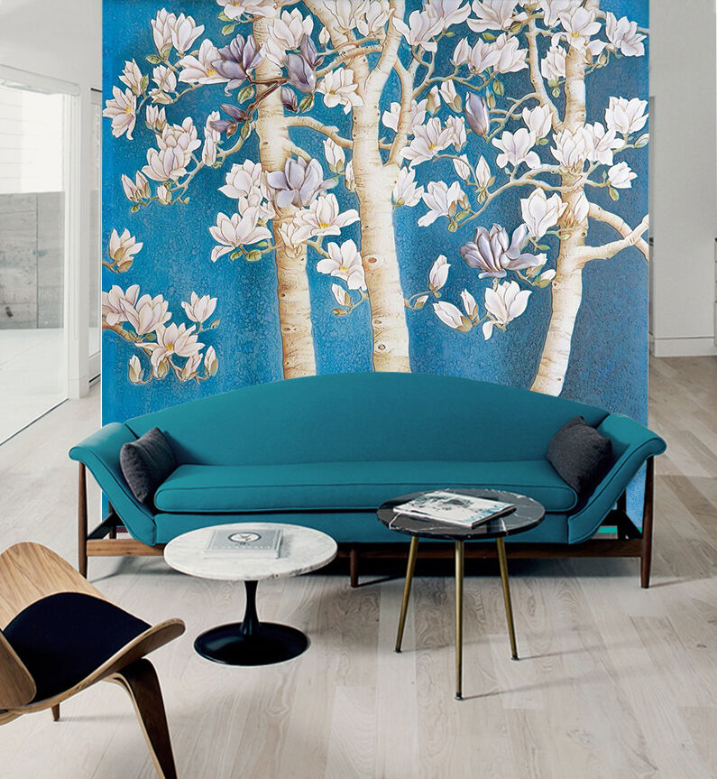 3D Weiß flowers, tree 265 Wall Paper Print Wall Decal Deco Indoor Wall Murals