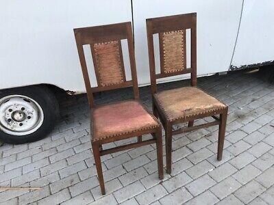 Sedie Antiche Prezzi.Coppia Di Antiche Sedie Anni 30 In Noce E Seduta In Stoffa Ebay
