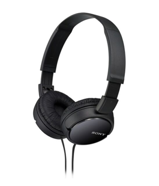 Sony MDR ZX110A Wired Headphones On Ear Stereo Headphones (Black)