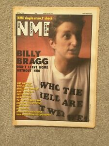 NME Magazine - 28 May 1988 - Billy Bragg - Pete Shelley - Chilli Peppers