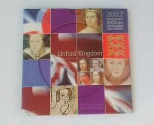 2002 ROYAL MINT UK BRILLIANT UNCIRCULATED 8 COIN SET [2 of 2]