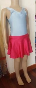 Sporting Goods Makamy Girl's Figure Ice Skating Full Skirt Berry Spandex Sz10 Bnwt 38