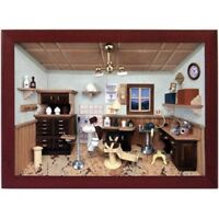 German 3d Wooden Shadow Box Picture Diorama Old Fashion Dentist Office Zahnarzt