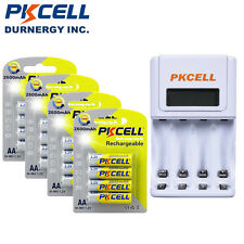16x AA 2600mAh Ni-MH Rechargeable Batteries + 4 Channel AA/AAA Battery Charger