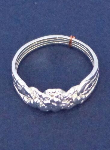 Argent 4 bande rose style turc d/'enclenchement Puzzle Ring-Sterling Plaqué