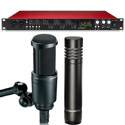 Musical Instruments & Gear Audio/midi Interfaces Focusrite Scarlett 18i20 2nd Gen Recording Interface With A-t Microphone Set