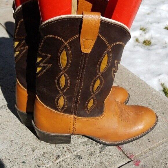 Bronco 2741 women tan cowboy boots 6
