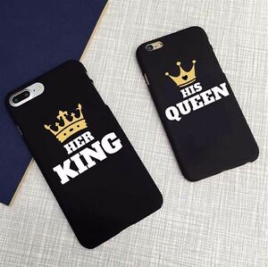 online store 8fbfb ef035 Details about His Queen Her King Cover Case Apple iPhone X 8 Plus 5 5S 6 7  7Plus SE XR XS Max
