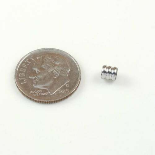 Stainless Steel Lot of 20 Grooved Tube Column Spacer Beads 4mm x 4mm Hole 3mm