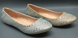 NEW Women's Blossom Baba58 WEDDING PAGEANT Glitter Rhinestone Dressy Flats Shoes