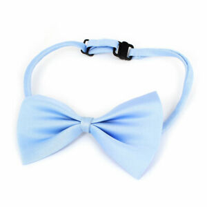 Blue Polyester Adjustable Band Bowtie Shape Necktie Neck Collar for Pet Dog