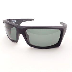 68fe72448a76 Spy Optics General Soft Matte Black Happy Gray Green New Sunglasses ...