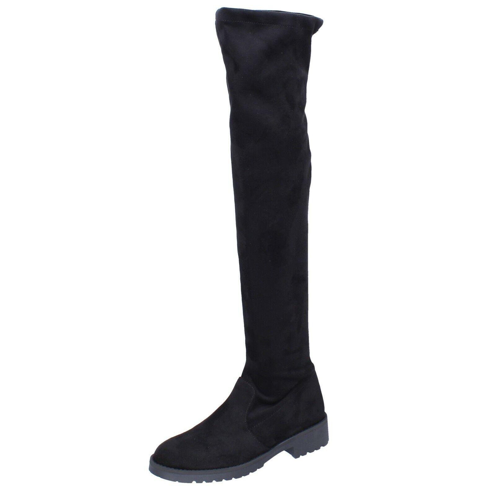 Para mujeres Zapatos Olga Rubini 5 () botas Negro Gamuza BR273-35