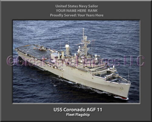 USS Coronado AGF 11 Personalized Canvas Ship Photo Print Navy Veteran Gift