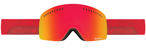 NEW Dragon NFXS Ski Snowboard Goggles-Stone Red-Red+Amber-SAME DAY SHIPPING
