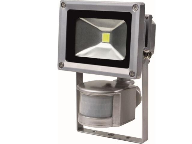As-Schwabe LED-Strahler 10 W mit Bewegungsmelder und Solar-Panel Lampe Licht NEU