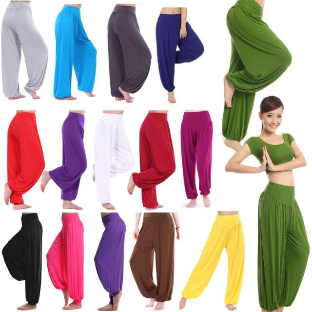 Women Harem Genie Aladdin Causal Gypsy Dance Yoga Pants Trousers Baggy Jumpsuit