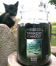 "Yankee Candle ""BLACK MAGIC"" Halloween~ Large 22 oz. ~ WHITE LABEL~ NEW!"