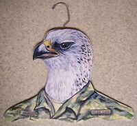 Clothes Hanger Military Animal Air Force Falcon Stupell Wood