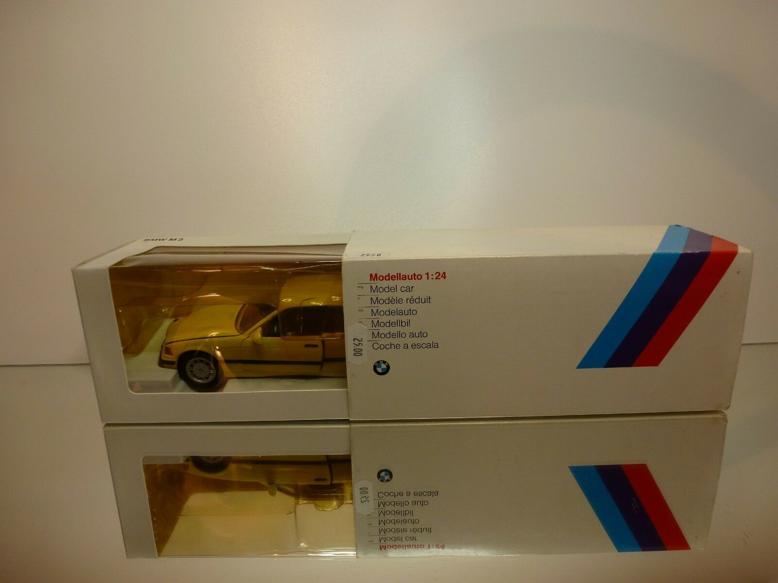 GAMA 417345 BMW M3 E36  - YELLOW 1 24 - EXCELLENT CONDITION IN DEALER BOX