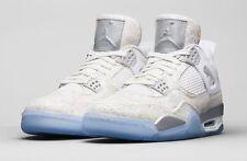 Nike Air Jordan 4 IV Retro Laser Size 14. 705333-105 white silver. bred cement