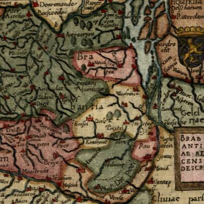 Limania Auvergne France Ortelius 1655 scarce miniature old map hand color