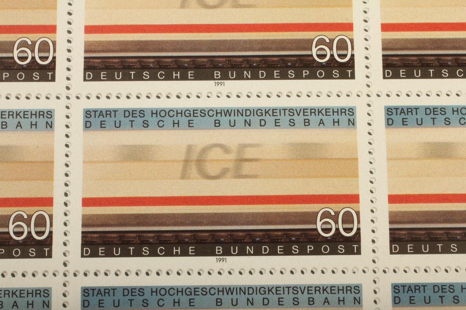 ICE FRANCOBOLLI arco 1991-Germania Ferrovie Modellbahner vintage regalo
