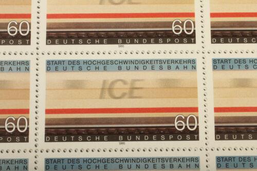 ICE Briefmarkenbogen 1991 - Deutschland Eisenbahn Vintage Modellbahnergeschenk
