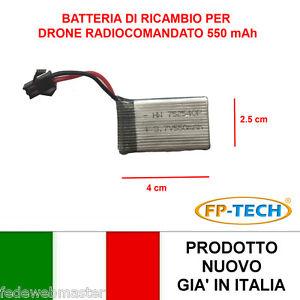 BATTERIA-RICAMBIO-DRONE-X4-RADIOCOMANDATO-550-mAh-3-7-V-QUADRICOTTERO-ELICOTTERO