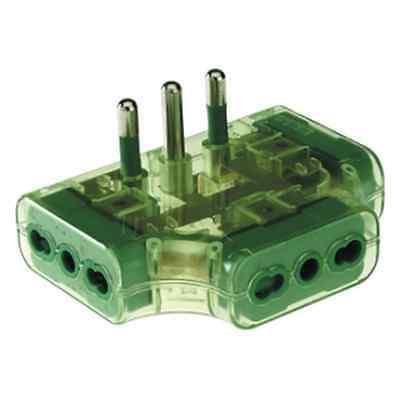 Home & Garden Fanton 82222 Adapter Triple Plug Flat Italian 2p+t 16a A 3 Sockets 10/16