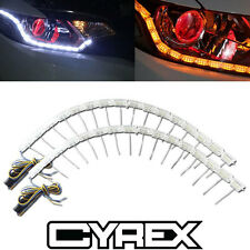 2 LED STRIP SWITCHBACK LIGHTS FOR HEADLIGHT RETROFIT MODS W SEQUENTIAL SIGNAL P5