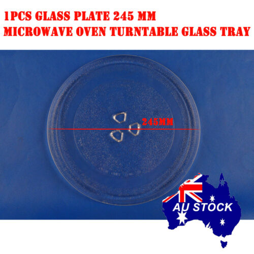Microwave Oven Glass Turntable Plate Platter 245 mm Suits Many Brand New OZ