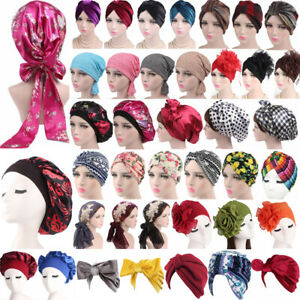 Women-Muslim-Hair-Loss-Head-Scarf-Hat-Chemo-Hijab-Sleep-Cap-Turban-Wrap-Cover-UK